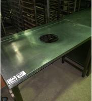 Стол производственный 1200*600 с отверстием для сбора отходов БУ