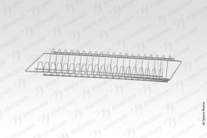 Комплект ПСП - 600*300, нерж. сталь, сетка тарелки
