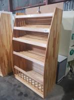 Стеллаж для магазина деревянный 1080*550*1800 мм БУ