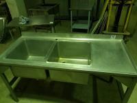 Ванна моечная с рабочей поверхностью 1600*700 борт БУ