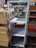 Стеллаж архивный для магазина металлический 700*600*1850 (стойки крашеные, полки нерж, в пленке) БУ