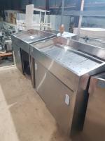 Стол холодильный для рыбы из нержавеющей стали 1200*600мм БУ
