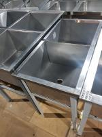 Ванна моечная 2х секционная 930*500 мм БУ