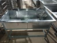 Ванна моечная 2х секц. 1400*700*850 мм БУ